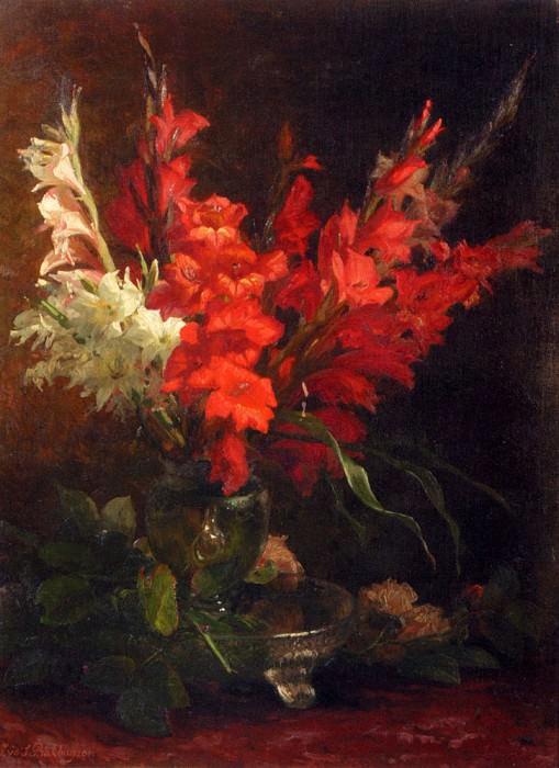 Геральдина Якоба ван де Бакхёйзен - Натюрморт с гладиолусами и розами. Американские художники