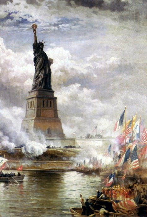 Moran Edward Unveiling The Statue of Liberty 1886. American artists