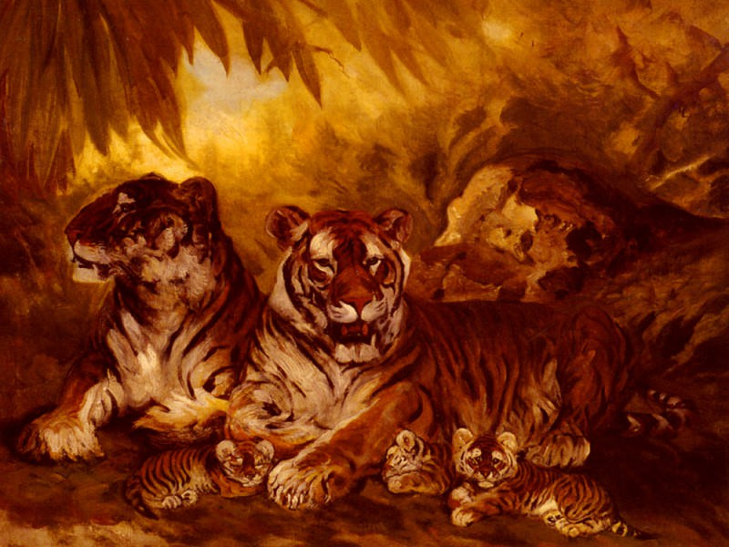 Drake William Henry Masters Of The Jungle. American artists