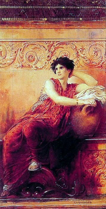 The Roman Pose. American artists
