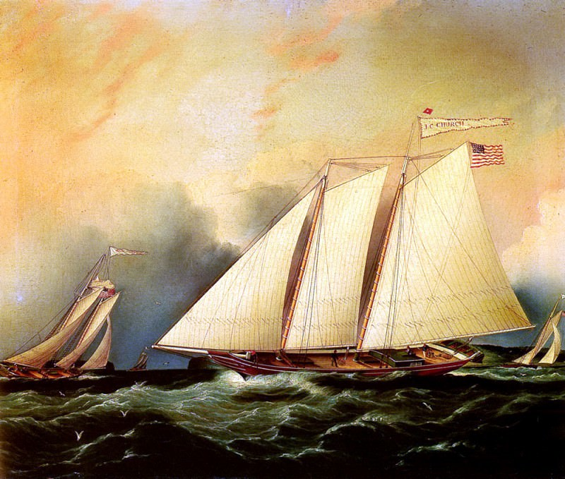 Buttersworth James E Under Full Sail. American artists