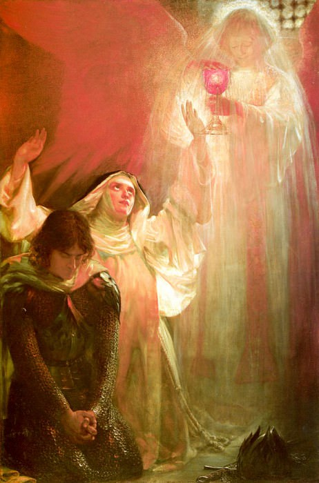 Goetze Sigismund The Vision Of Sir Percivales Sister. American artists
