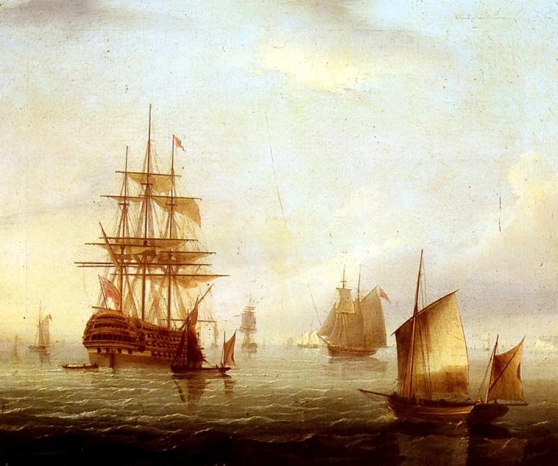 Buttersworth James E Sailing Vessels Off A Coastline. American artists