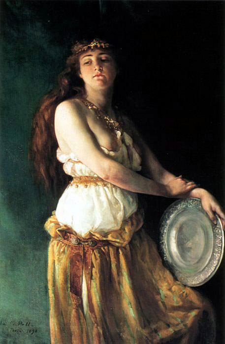 Pell Ella Ferris 1846 to 1922 Salome 51 by 38in. American artists