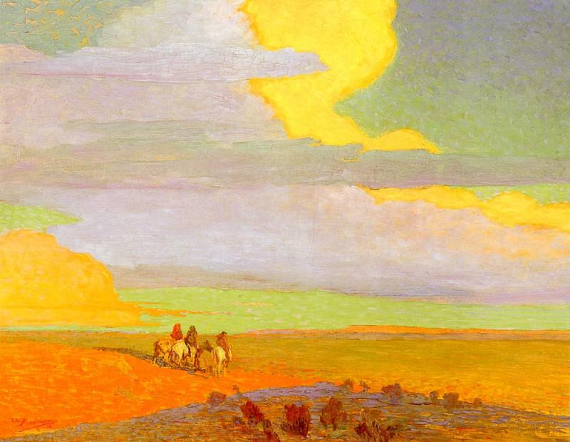 Berninghaus Oscar E Traveling North At Sunrise. American artists