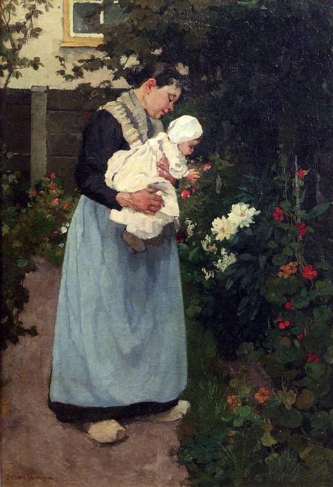 Akkeringa Johannes Evert A Summer Garden. American artists