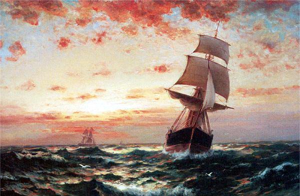 Моран, Эдвард (1829-1901) #1. Американские художники