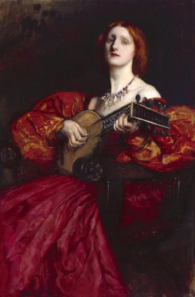 Abbey Edwin Austin A Lute Player. American artists