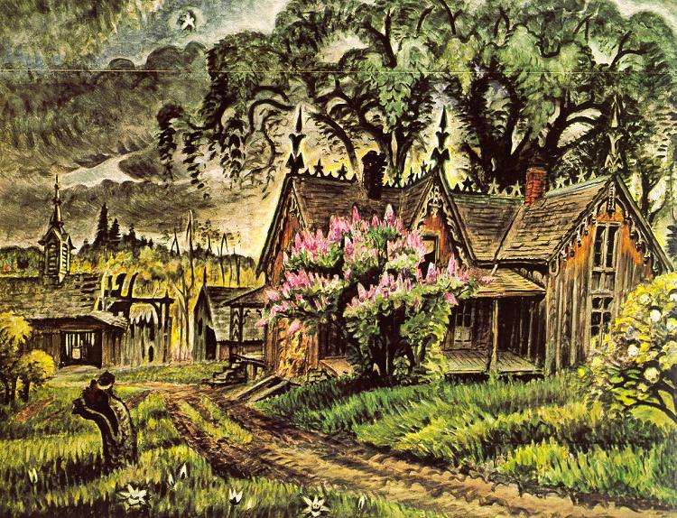 Burchfield, Charles Ephraim (American, 1893-1967) 2. American artists