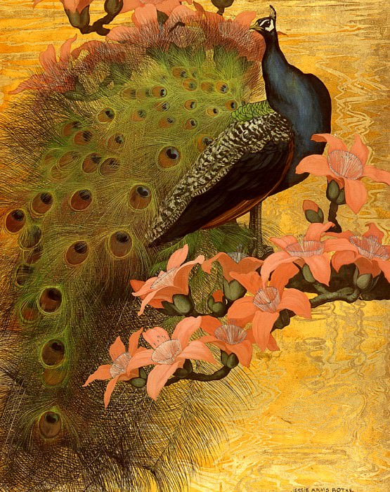 Botke Jessie Arms Blue Peacock. American artists
