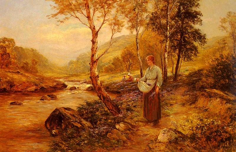 Walbourn Ernst Gathering Wildflowers. American artists