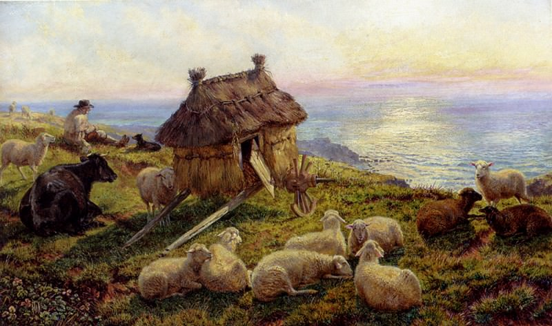 Davis Henry Williams Banks On The Cliffs Picardy. American artists