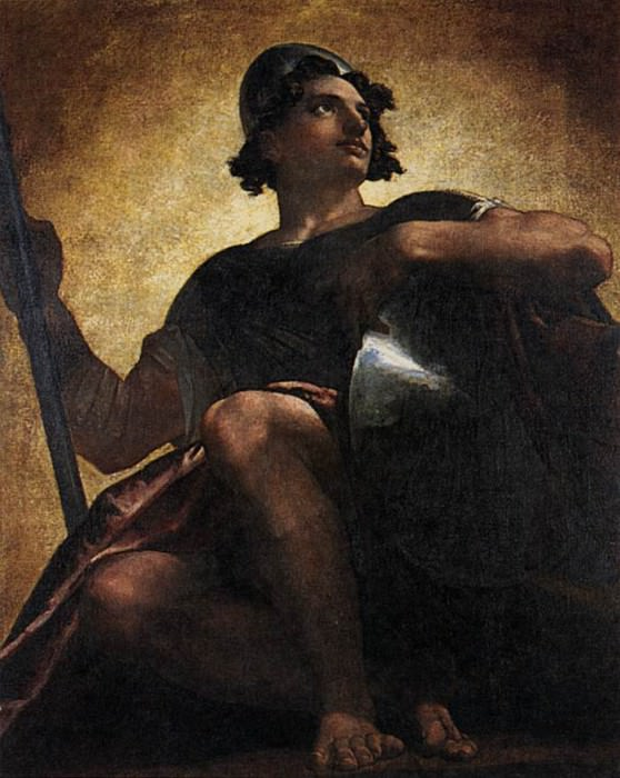 ALLSTON Washington Uriel Standing In The Sun. American artists