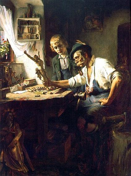 Woodcarver of Oberammergau. American artists