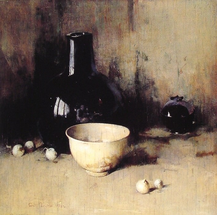 Still life with Self-portrait Reflection. American artists
