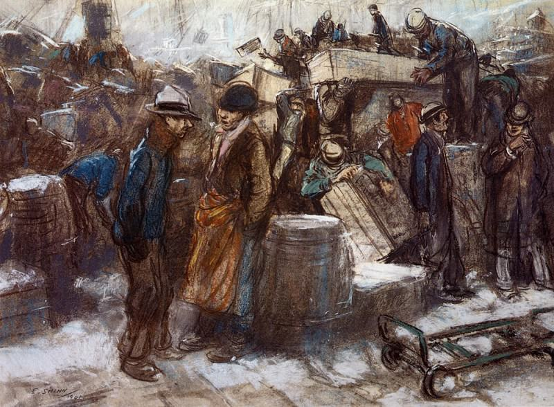 Shinn Everett The Docks New York City. American artists