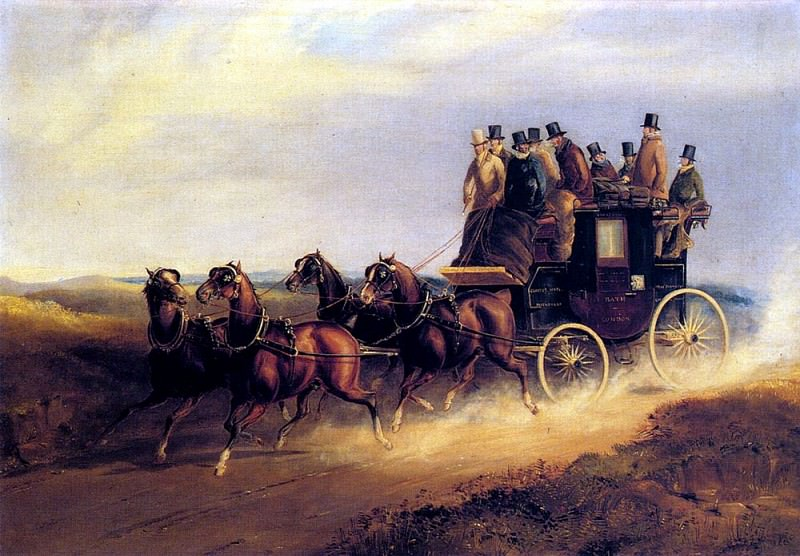 Hendreson Charles Cooper The Bath To London Coach On The Open Road. American artists