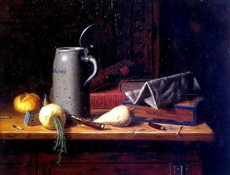 Harnett, William Michael (American, 1851-1892). American artists
