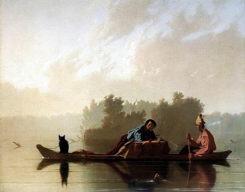 BINGHAM George Calec Fur Traders Descending The Missouri. American artists