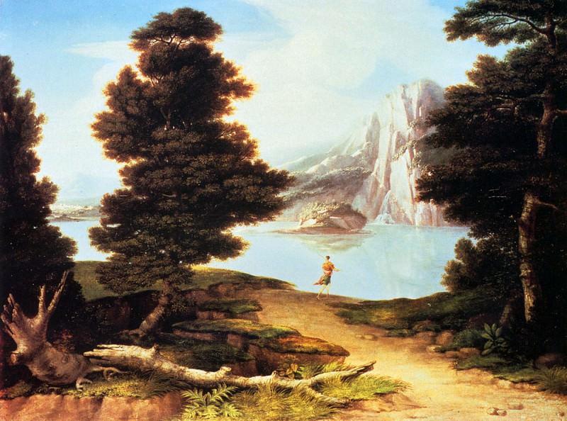 Allston Washington Landscape With A Lake. American artists