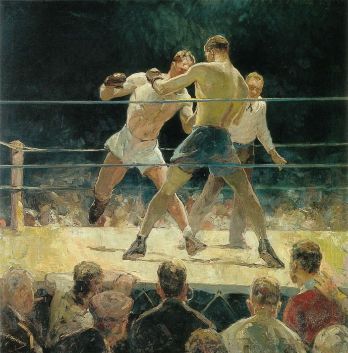 The Big Fight. American artists