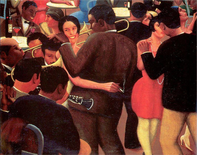 Motley, Archibald Jr. (American, 1891-1981) 2. American artists