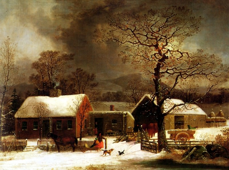 Winter Scene in New Haven. American artists