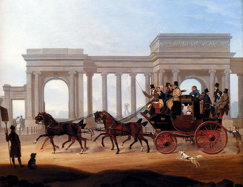 Boughton Henry The Defiance Coach At Hyde Park Corner. American artists