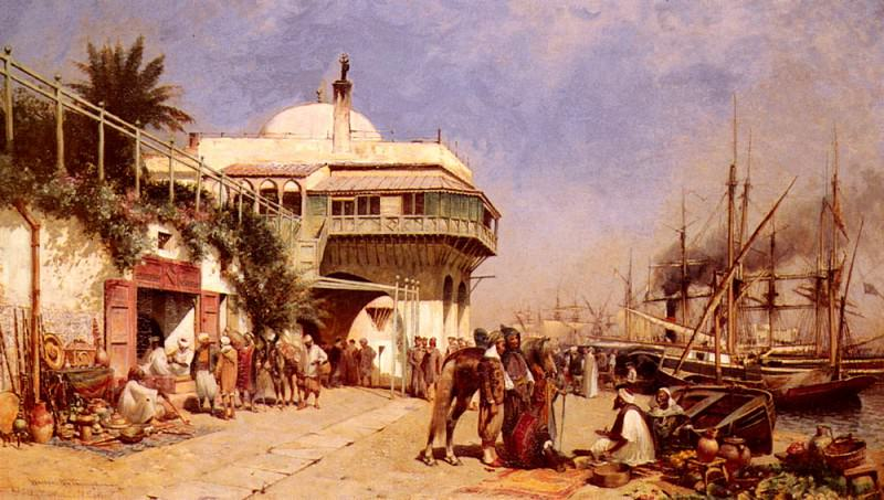 Thompson Alfred Wordsworth The Port Of Algiers. American artists