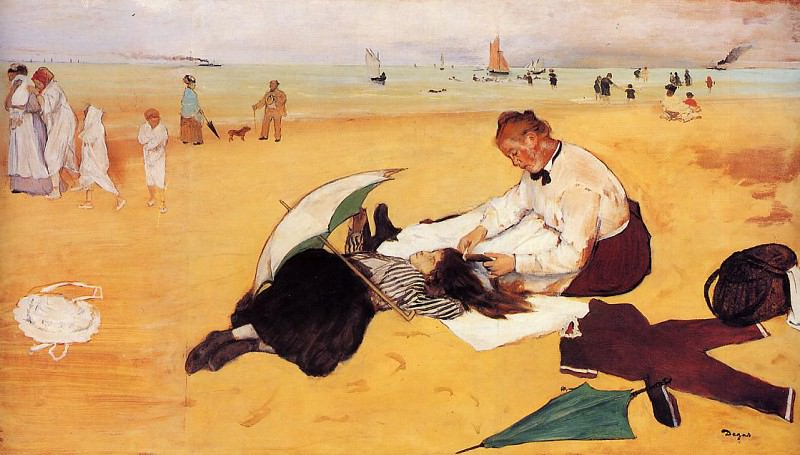Beach Scene. Edgar Degas