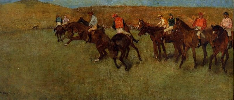 At the Races Before the Start. Edgar Degas