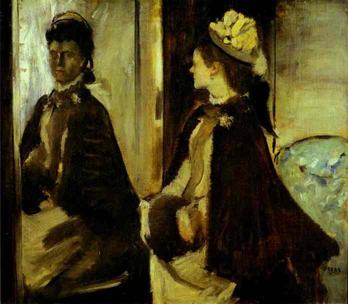 Мадам Жинто перед зеркалом. Эдгар Дега