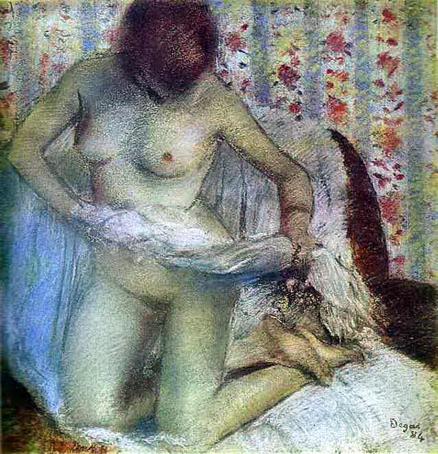 Вытирающаяся женщина. Эдгар Дега