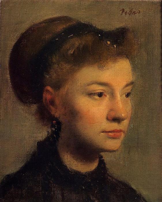 Head of a Young Woman. Edgar Degas