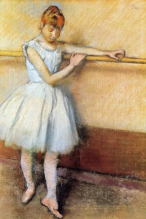 Dancer at the Barre. Edgar Degas