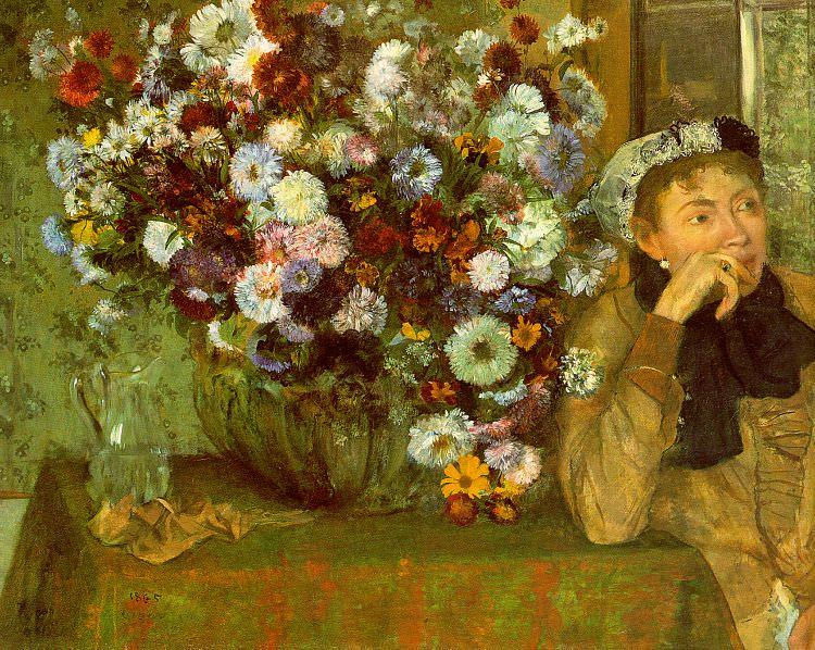 Madame Valpincon with Chrysanthemums CGF. Edgar Degas