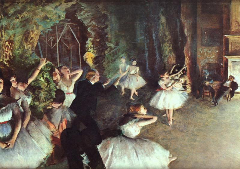 Rehearsal on the Stage. Edgar Degas