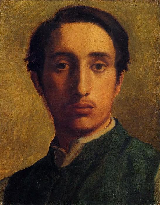 Автопортрет в зеленой куртке. Эдгар Дега