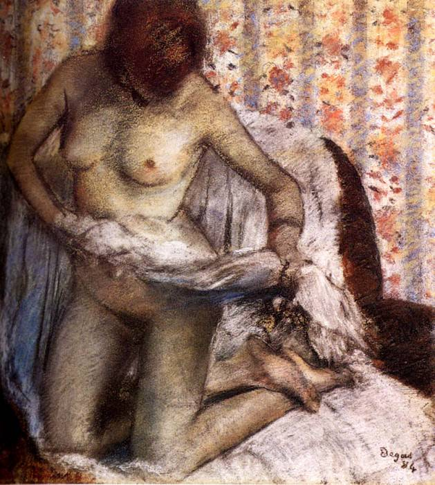 After The Bath. Edgar Degas