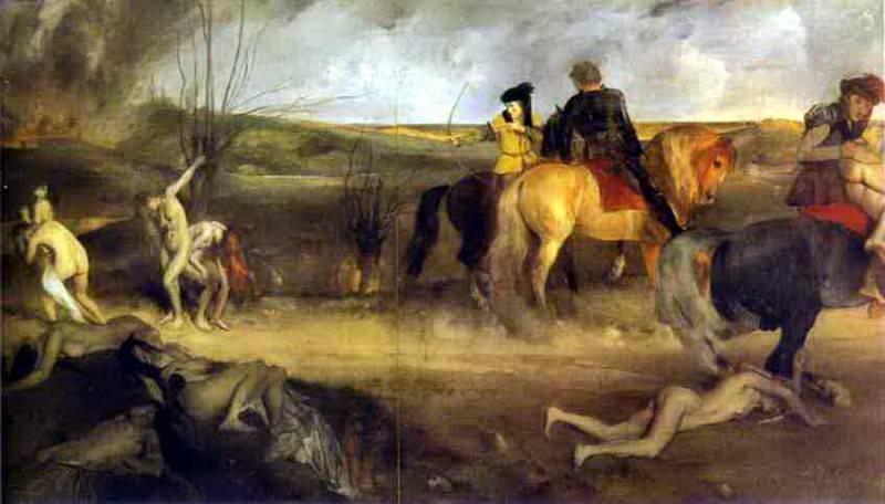 Сцена войны в средние века. Эдгар Дега