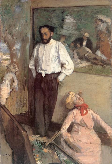Портрет художника Анри Мишеля Леви. Эдгар Дега