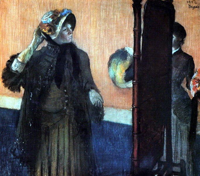 At the Milliners. Edgar Degas