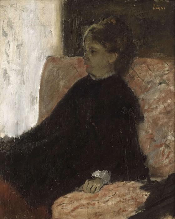 Женщина в чёрном. Эдгар Дега