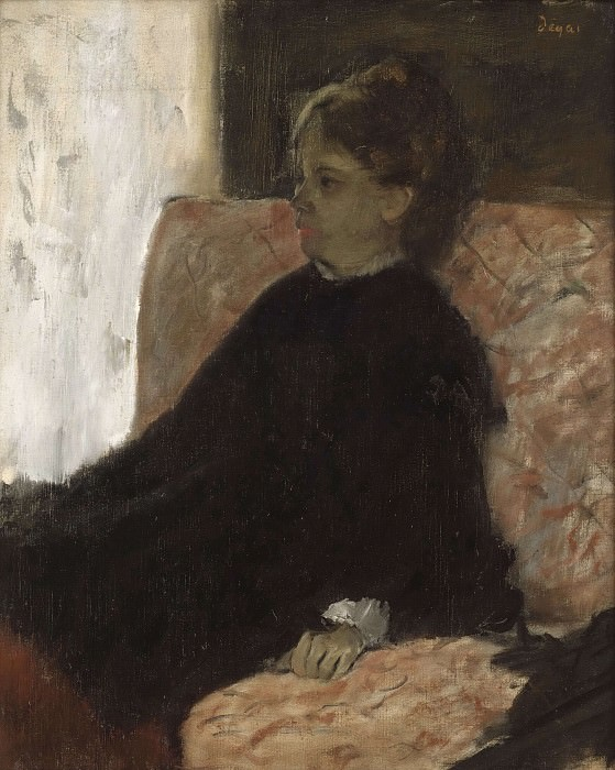 Lady in Black. Edgar Degas