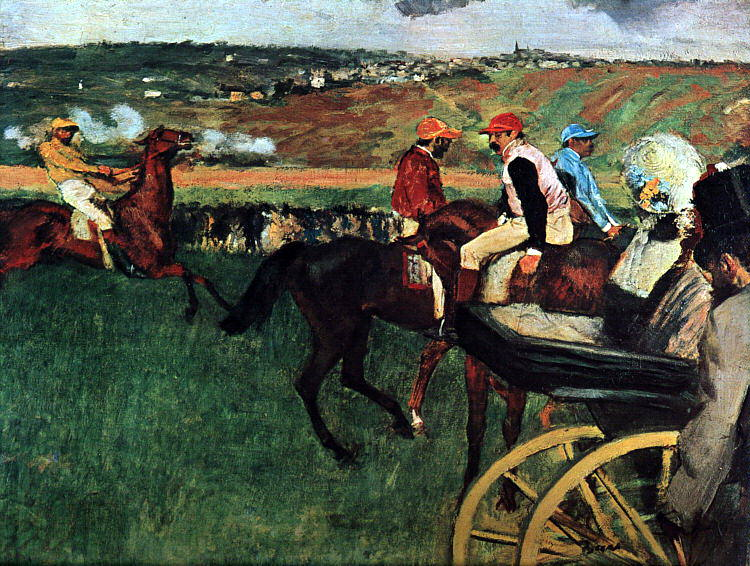 At the Races. Edgar Degas