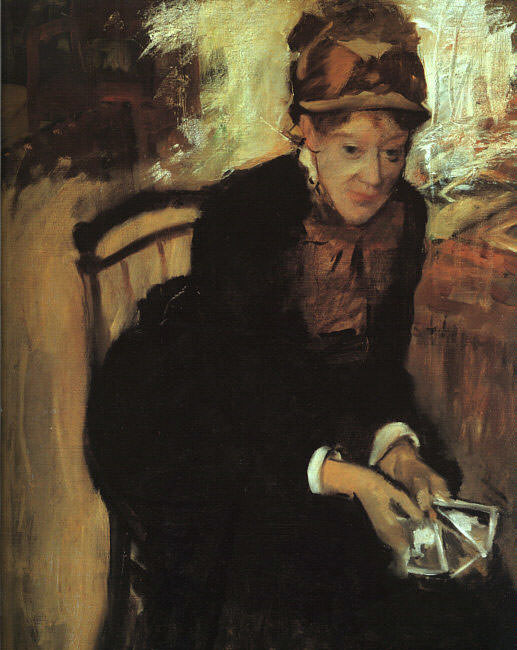 Portrait of Mary Cassatt. Edgar Degas