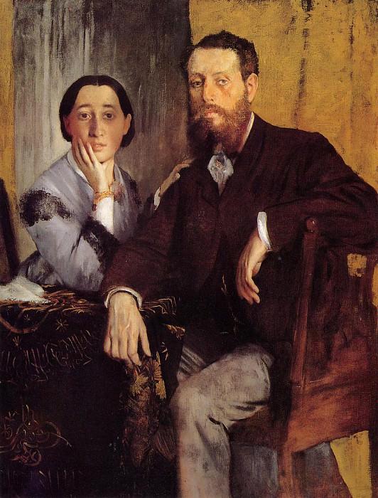 Edmond and Therese Morbilli. Edgar Degas