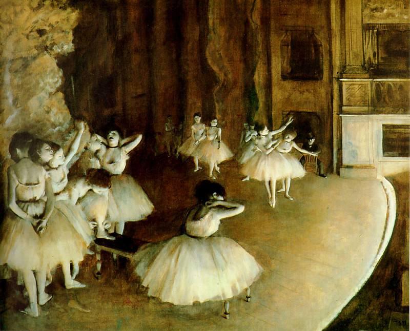 Ballet Rehearsal. Edgar Degas