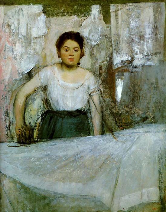 woman ironing. Edgar Degas