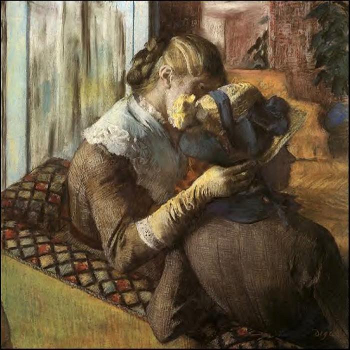 At the Milliner's. Edgar Degas